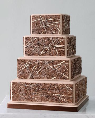 2010 Fall Wedding Cakes by Martha Stewart, Abstract Expressionism Wedding Cake