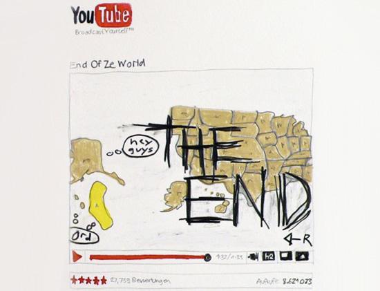 Admir Jahic & Comenius Roethlisberger, You Tube Drawing (The End), 2009