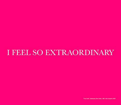 Aldo Chaparro, I Feel So Extraordinary, 2008