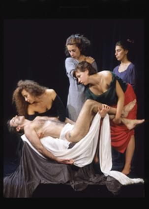 Alfons Alt, Descente de croix, selon Caravage, 1994