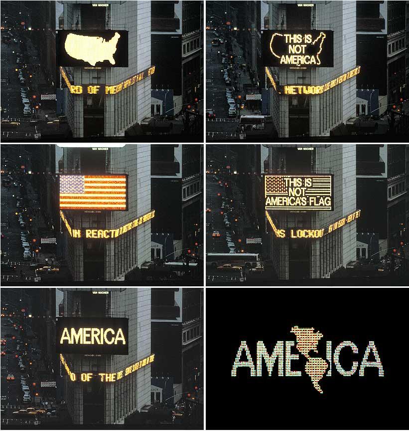 Alfredo Jaar, A Logo for America, 1986