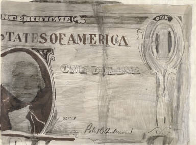 Andy Warhol, Dollar Bill, 1962