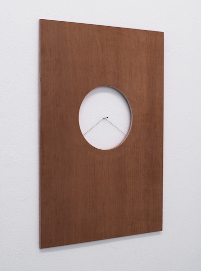 Anton Burdakov, Framed, 2011, plywood, nail and thread, 61x41cm