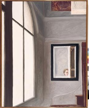 Avigdor Arikha, Interior del taller amb mirall, 1987