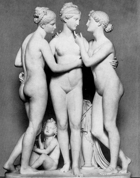 Bertel Thorvaldsen, The Three Graces, 1851