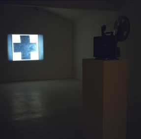 Bertrand Lavier, Cubist Movie, 1984, projecteur Super 8, film Super 8 en boucle, (image 80 x 80 cm)