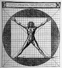 Cesare Cesariano, Uomo vitruviano, 1521, in De Architectura