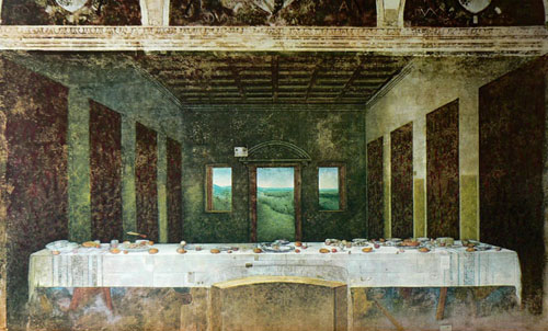 Charlotte Bracegirdle, Last Supper, 2010, acrylic on print, 102 x 61.5cm
