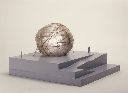 Christo, Air Package, Project for the Garden of the Museum of Modern Art, New York City, scale model 1968