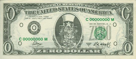 zero dollar