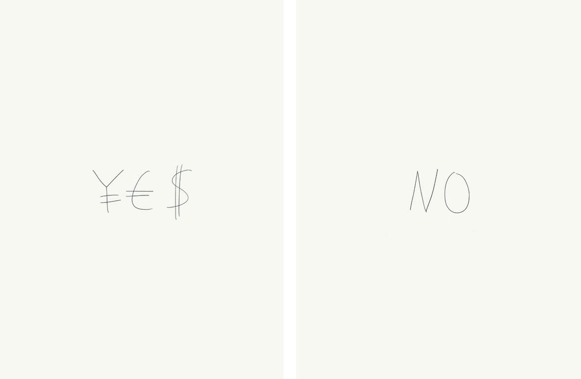 Claude Closky, Yes / No, 2004