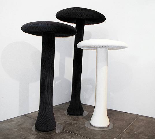 Cosima von Bonin, Therapy (#67), 2002, cordouroy, foam material, timber, perspex, h: 167.9 x w: 87.9 x d: 87.9 cm
