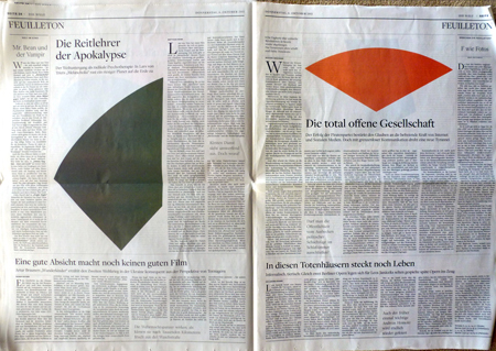 Culture editor Cornelius Tittel of German daily Newspaper Die Welt replaces all photographs by Ellsworth Kelly imagery issued October 6, 2011