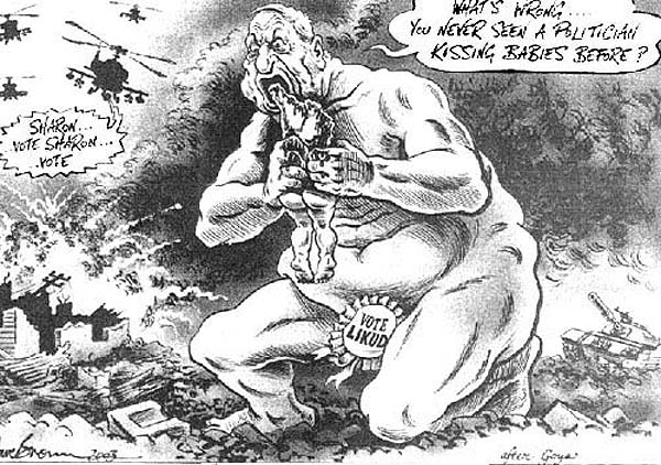 Dave Brown, After Goya, 2003, published in Britains Independent newspaper