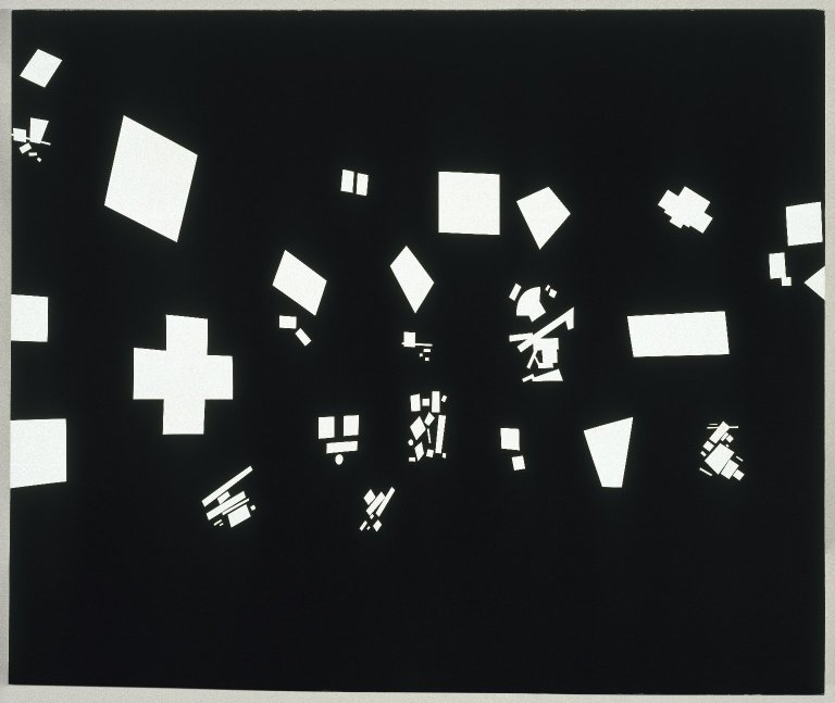 David Diao, Black and White, 1986