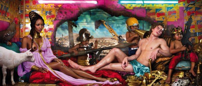 David Lachapelle, The Rape of Africa, 2009