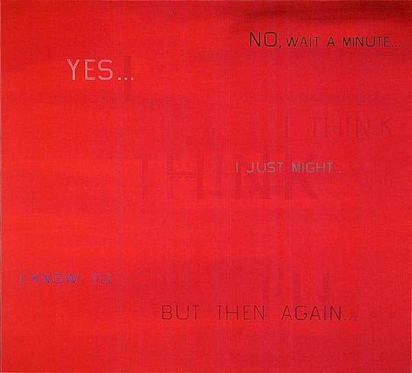 Ed Ruscha, Indecision, 1982, oil on canvas, 58 x 64 in.