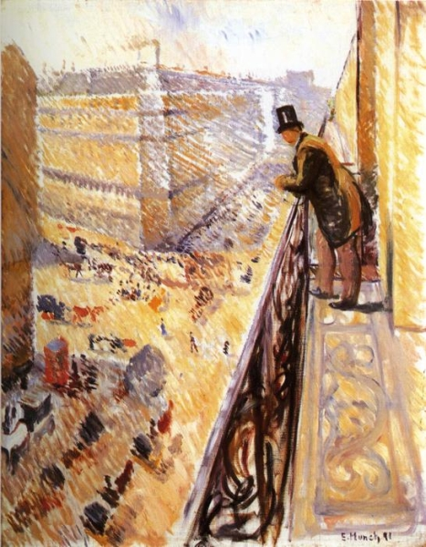 Edvard Munch, Rue Lafayette, 1891, oil on canvas, 92 x 73 cm