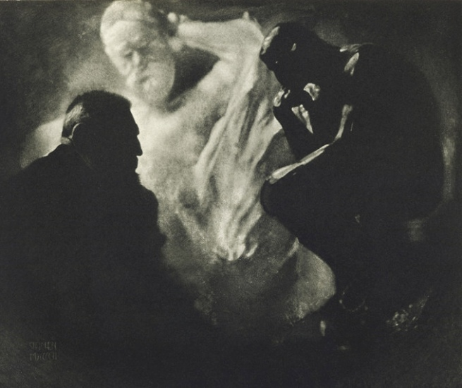 Edward Steichen, Rodin The Thinker, 1902