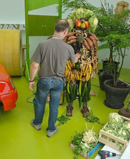 Fabrice Hyber, M.I.T man, le bonhomme vegetal, 2009