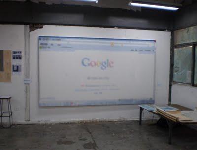 Felipe Rivas San Martín, Google, 2010, acrilic and oil on canvas, 300x170cm