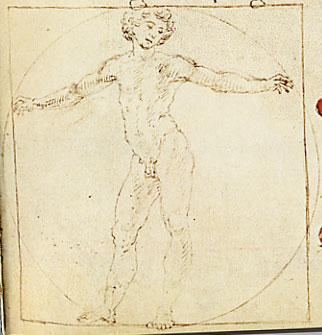 Francesco di Giorgio Martini, Uomo vitruviano, in rattato di architettura di Francesco di Giorgio Martini