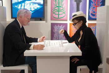 Francis Naumann, Marcel Duchamp: The Art of Chess, 2010, wiht Yoko Ono and her all–white chess board, Play It by Trust, 2002