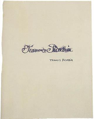 Francis Picabia, Francis Picabia par Francis Picabia, c. 1920-22
