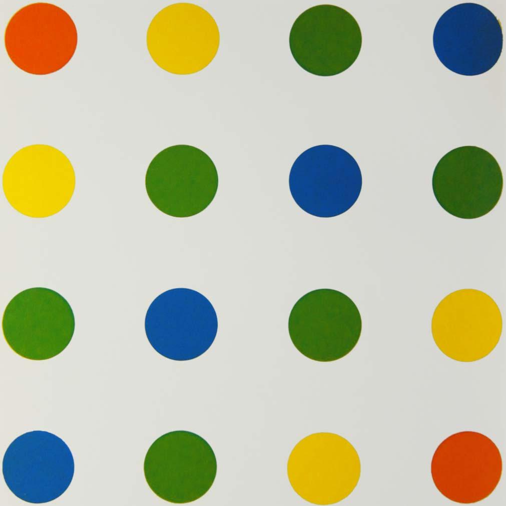 François Morellet, Bleu-Vert-Jaune-Orange, 1954