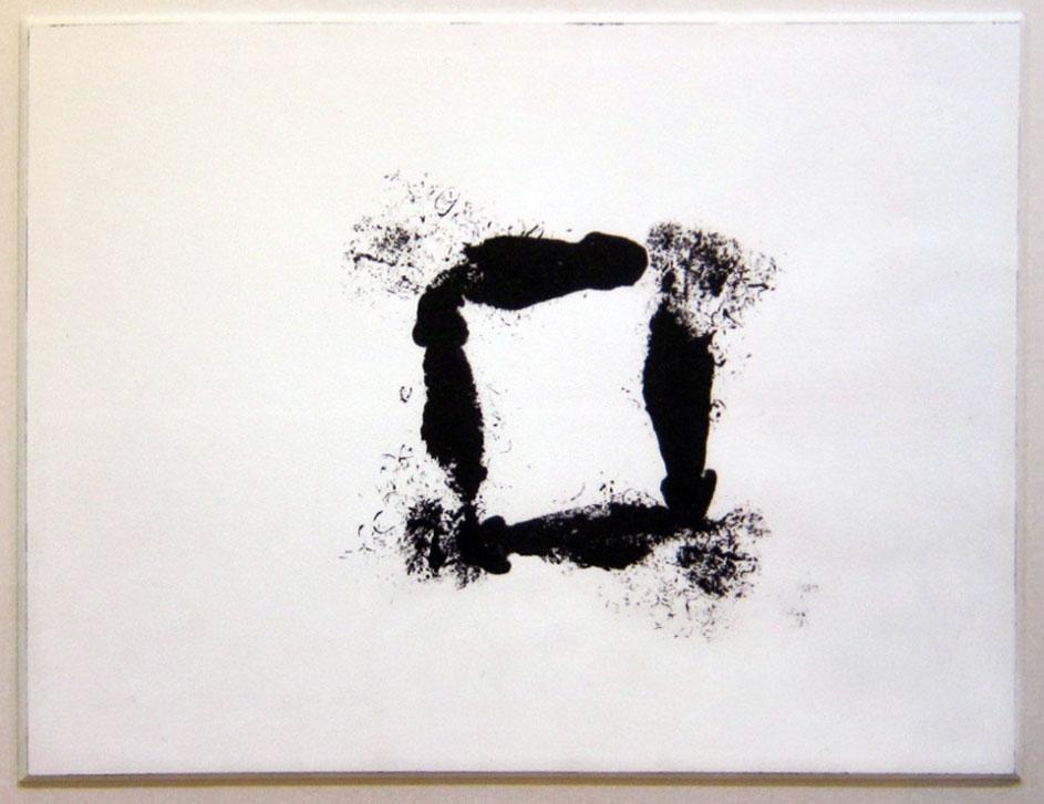 François Morrelet, Figure hâtive #1, 1986, acrylic on paper, 46x61cm