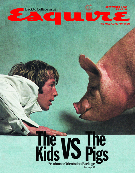 George Lois, The Kids vs The Pigs, September 1969, Esquire cover
