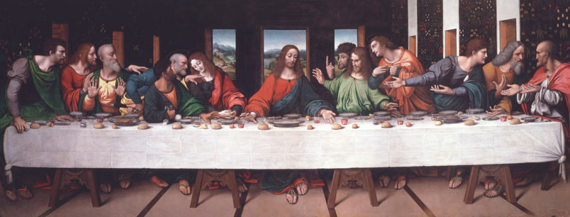 Giovan Pietro Rizzoli (Giampietrino), The Last Supper, c. 1520, oil on canvas, 302 x 785 cm