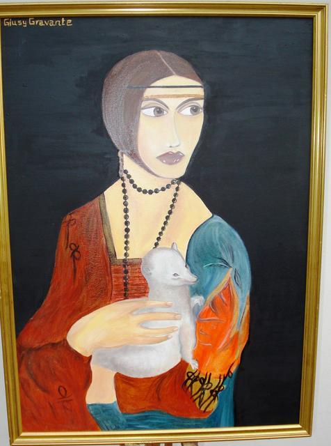 Giusy Gravante, La dama con lermellino tribute to Leonardo da Vinci, 2008