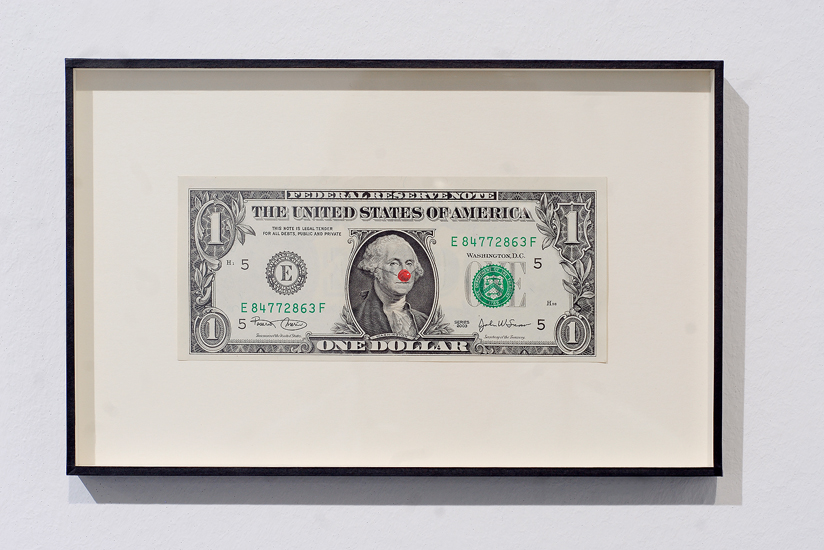 Hans-Peter Feldmann, One Dollar Bill with Red Nose, 2008