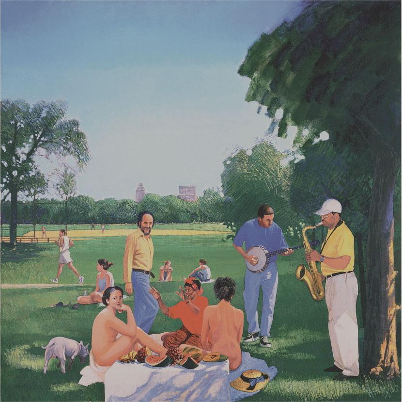 Herman Braun-Vega, Le Déjeuner in Central Park (Manet), 1999