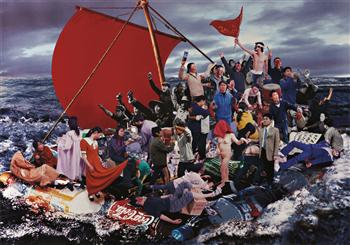 Hu Jieming, Raft of the Medusa, 2002, colour coupler print, 125 x 177 cm