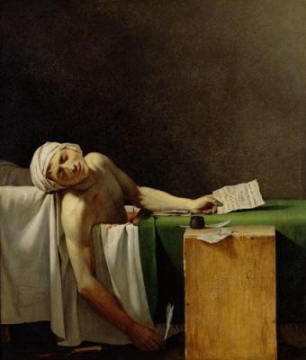 Jerome-Martin Langlois, Jean-Paul Marat assassiné dans sa baignoire, 13 juillet 1793, c.  1800