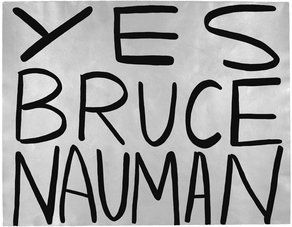 Jessica Diamond, Yes Bruce Nauman, 1989