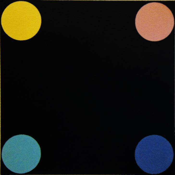 John Armleder, Untitled, 1983, 80x80cm