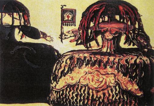 Josep Maria Sert, Figuri per a El dia i la nit, 1916