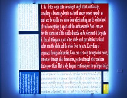 Joseph Kosuth, Mondrians Work I, 2005