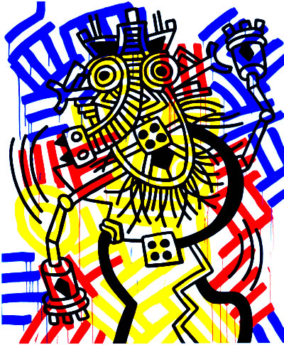 Keith Haring, Red, Yellow, and Blue, 1987