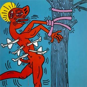 Keith Haring, Saint Sebastian, 1984