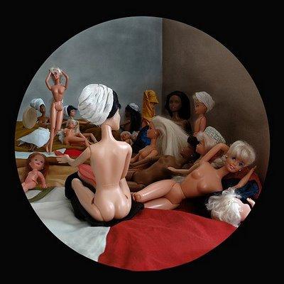 Kristyna Milde, Turkish bath after Ingres, 2008