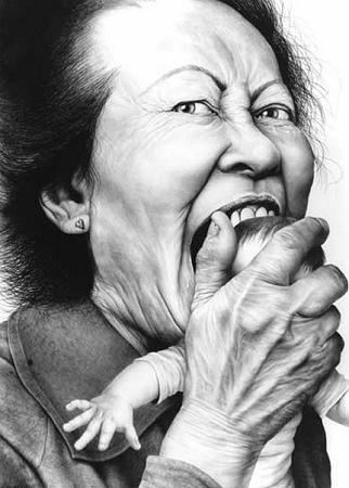 Laurie Lipton, Love Bite, 2008