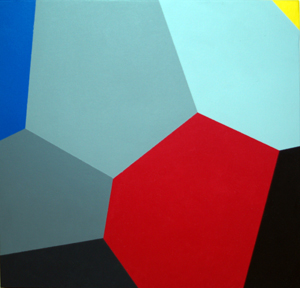 Leonel Moura, Voronoi whos afraid of red, yellow and blue 1, 2003