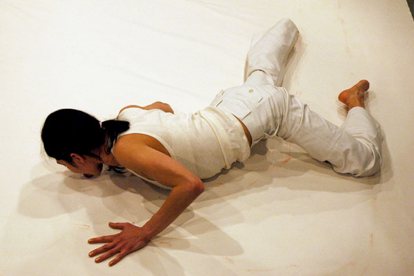 Lilibeth Cuenca Rasmussen, A Void, One out of 11 re-enactments: Licked Room. Video installation, 2000. Ene-Liis Semper, 2007