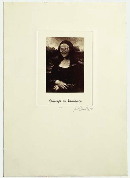 Luis Camnitzer, Hommage to Duchamp, 1980