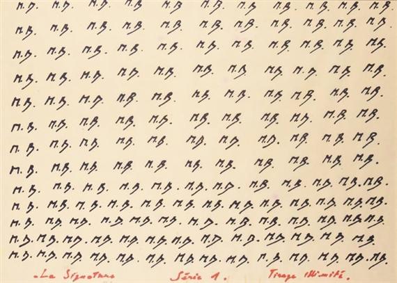 Marcel Broodthaers, La signature, serie 1, 1969