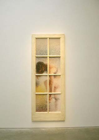 Marcus Harvey, Large Door, 2001, oil on fiberglass, 117 x 45 in